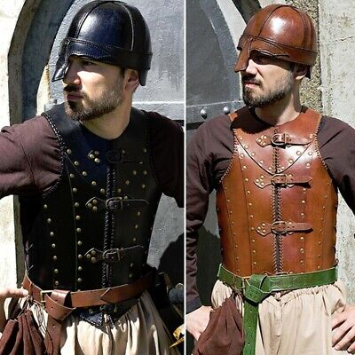 Quality Leather Soldiers Brigandine Armour. Perfect For Stage Costume & LARP • 118£