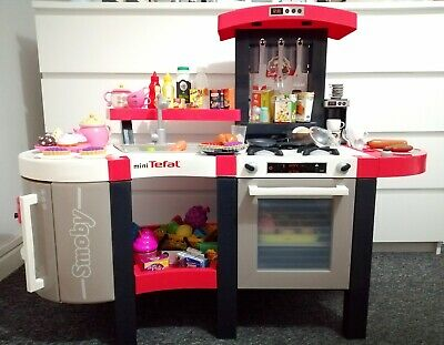 Smoby Mini Tefal Chef Kitchen With Lots Of Accessories🍇🥯🧁🍪🍽️☕🍳🥩🍗 • 75£