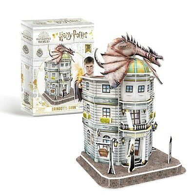 Harry Potter Diagon Alley - Gringotts Bank 3D Puzzle With Interior! - OFFICIAL! • 11.95£