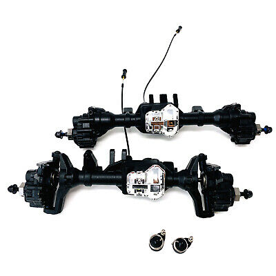 Traxxas TRX-4 TRX4 Front & Rear Axles With Chrome Diff Lockers Portals & Hexs  • 159.99£