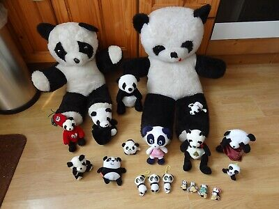 Bundle 21 X Plush PANDAS Soft Toys 38 Ins High Max • 5.99£