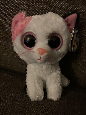 """Ty Beanie Boos 6"""" Muffin The Cat New With Purple Tag Rare / Retired Free P&P • 32.50£"""