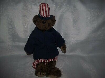 Ty Beanies - 1993 Attic Treasures Patriotic Bear  Uncle Sam  Bear 15  • 18.99£