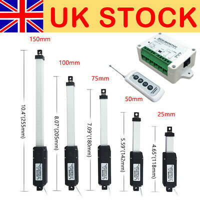 1 -6  Micro Linear Actuator 12V 750N Force IP65 Robotics,VR Simulators,Drones • 34.53£