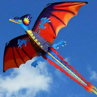 3D Red Dragon Kite Single Line Kids Adults Outdoor Flying Games Toy • 9.17£