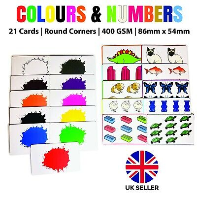 Colours And Numbers Flash Cards Kids Educational Pre School Learning (SAME DAY) • 3.99£