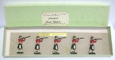 5x Vintage Charbens 54mm Lead Toy Soldiers Highlanders Black Watch Firing Boxed • 39.99£