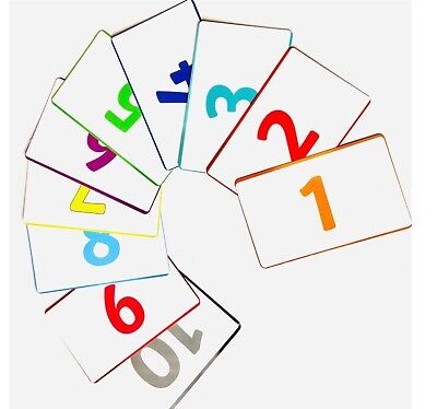 Children's Flash Cards Kids Educational Colours And Numbers 21 Cards (SAME DAY) • 3.49£