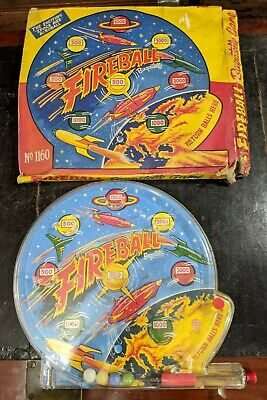 Boxed MARX TOYS 60s Space FIREBALL BAGATELLE GAME VINTAGE TOY No. 1160 • 28£