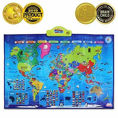 BEST LEARNING I-Poster My World Interactive Map - Educational Talking Toy For • 63.99£