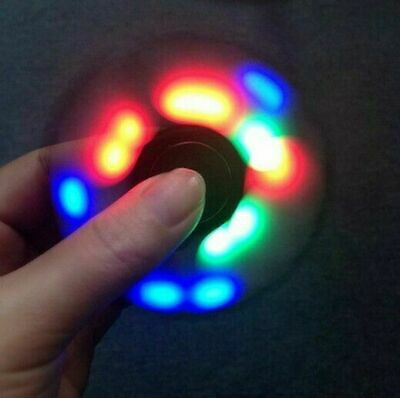 LED Light Fidget Finger Spinner Hand Spinner Stress Toys GLOW IN DARK  • 4.44£