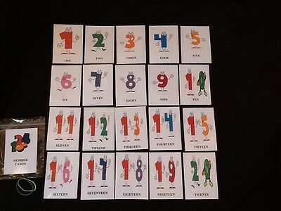 Educational Cards - Numbers 1-20 - ELFS / (rounded Corners) • 4.99£