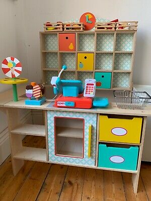 Wooden Pretend Play Toy Shop With Accessories • 75£