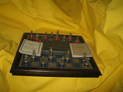 Franklin Mint Battle Of Waterloo Chess Set With Certificate Of Authenticity • 150£