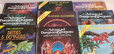 9 X Advanced Dugeons And Dragon 1st Edition Rule Books • 32£