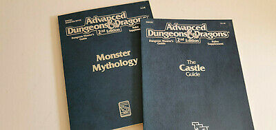 Advanced Dungeons And Dragon 2nd Edition The Castle Guide, Monster Mythlology • 10£