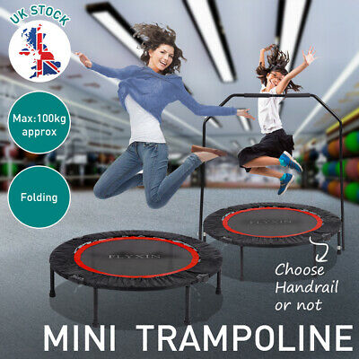 40  Folding Trampoline Kids Indoor Outdoor Toy Fitness Home Gym Garden Sport • 62.99£