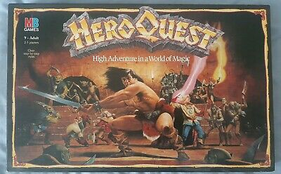 Hero Quest Board Game 1989 Complete Good Condition • 66£