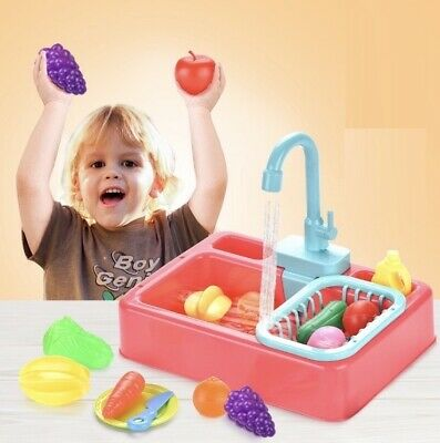 Simulation Electric Dishwasher Sink Toys For Pretend Play Kitchen Children Kids  • 13.80£