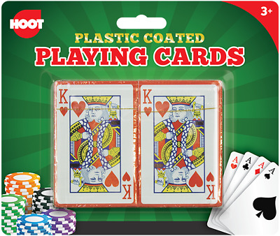 2 Playing Cards Decks Professional Plastic Coated Vintage Poker Blackjack Box • 1.89£