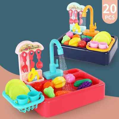 20Pcs Simulation Electric Dishwasher Sink Toys For Pretend Play Kitchen Children • 16.50£