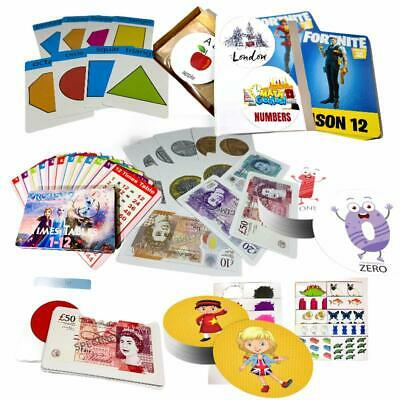 Kids Flash Cards Numbers, Alphabet, Shapes, Money, Colours, & Times Tables GIFTS • 2.97£