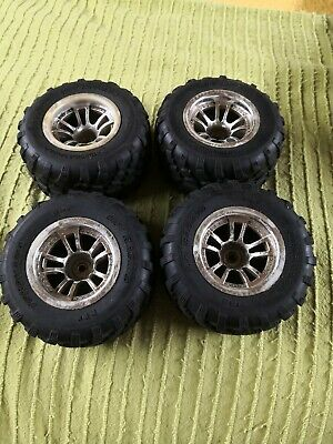 1/10 RC Truck Wheels & Tyres Set For HPi MT2 - FREE UK P&P • 10£