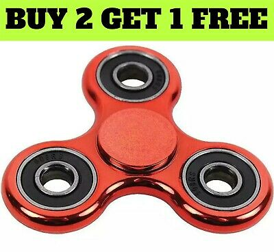 METALLIC ROSE  Fidget Finger Spinner Hand Spinner Stress Toys  BUY 2 GET 1 FREE • 2.90£
