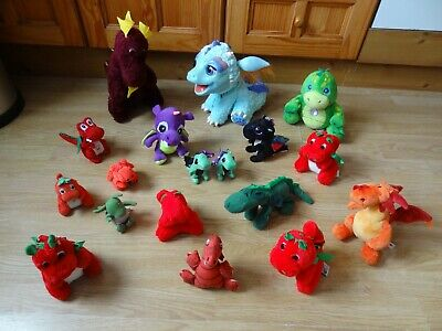 Bundle 18 X Plush DRAGONS Soft Toys 12 Ins High Max- Inc Blue Dragon With Sounds • 5.99£