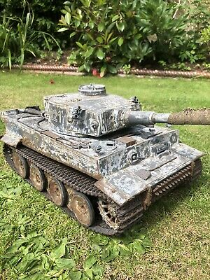 Heng Long 1/16 Tiger 1 Rc Model Tank Custom Airbrush  Camouflage. Excellent • 142£