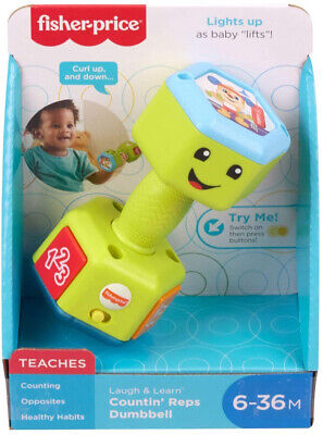 Fisher Price Laugh & Learn Countin' Reps Dumbbell • 12.99£