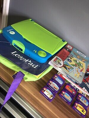 Leapfrog LeapPad Learning System With 8 Books & Cartridges • 12£