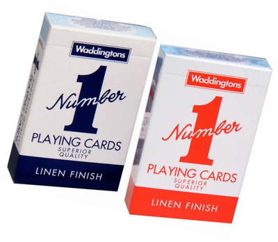 Waddingtons No.1 Classic Playing Cards Decks Of Red & Blue Poker Game Brand New • 3.95£