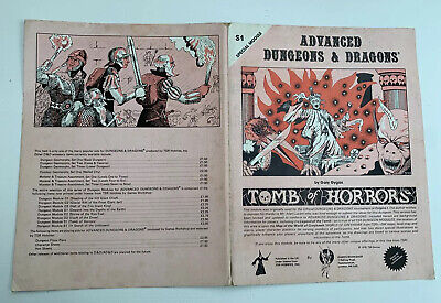 Advanced Dungeons & Dragons, Tomb Of Horrors, S1 Special Module, RARE • 10.50£