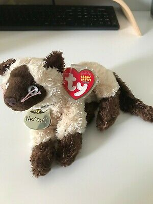 Ty Beanie Baby. Nermal. Garfield Series 2004. With Tag & Protector • 1.50£