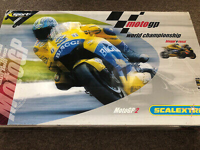 Scalextric Moto Gp Biaggi V Rossi. Extra Track! Includes Free Boxed DBS. • 35£