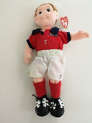 TY Beanie Boppers Doll With Tag - Footie - England Football Kit • 5£