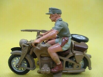 Britains Afrika Korps Motorcycle Combination Outstanding Condition • 24£