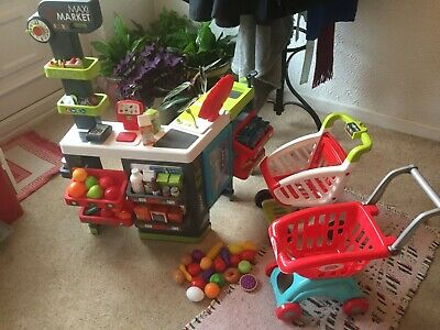 Smoby Childs Toy Maxi Market/shop With Food  Good Used Condition • 5£