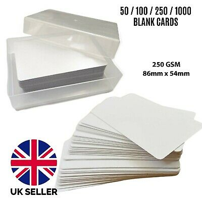 50 Blank Playing Cards Flash Cards Blank Both Sides Round Corners • 2.99£