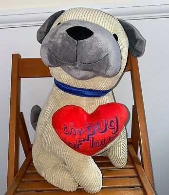 The Pug Of Love Dog Large Cuddly Toy 1ft 7 Inches • 5.99£