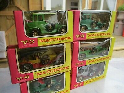 Vintage Matchbox Yesteryears X 6 Mint Boxed • 0.99£
