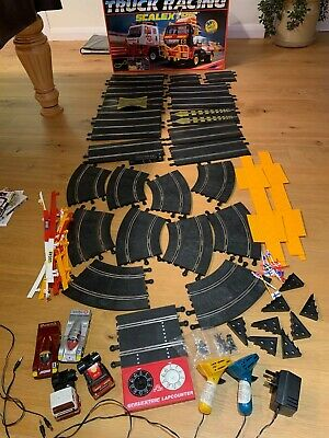 Scalextric Truck Racing Set In Box With Lap Counter & Cars • 20£