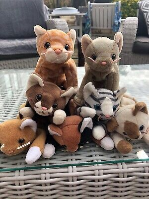 Ty Original Beanie Babies Rare Retired Collectable Cats  • 5£