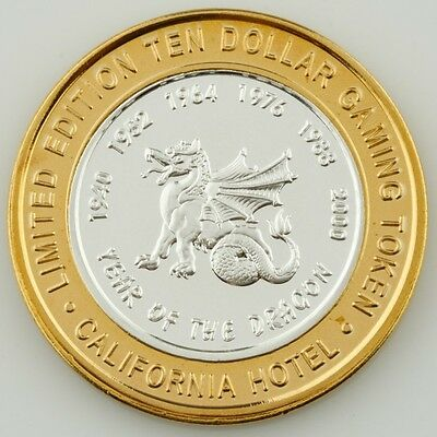 California Hot, Las Vegas Ten Dollar Gaming Token .999 Fine Silver Coin • 39.71£