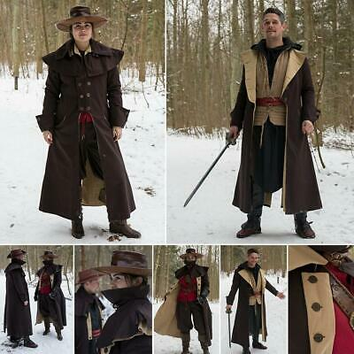 Dark Brown Two Tone Highwayman / Coachman Coat. Perfect For Stage And Costume... • 105.99£