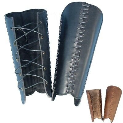 Leather Squire Greaves, Leg Protection. Ideal For Stage, Costume And LARP • 58£