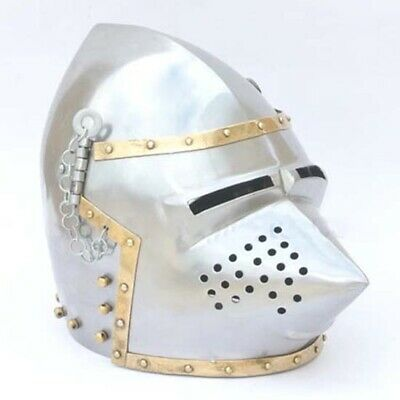 Medieval Pigface Bascinet Helmet. Perfect For Costume Or LARP • 96£