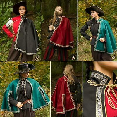 Aramis Musketeer Cape / Cloak. Perfect For Stage, Costume, Re-enactment Or LARP • 70£