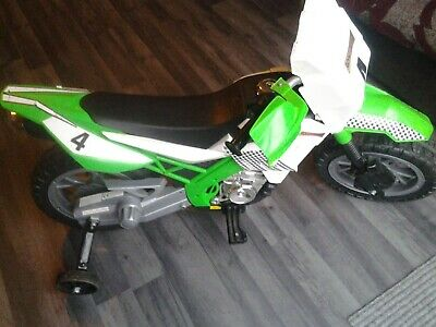 Childrens Kids Electric Motorbike Ride On Boys Toys Green • 6£